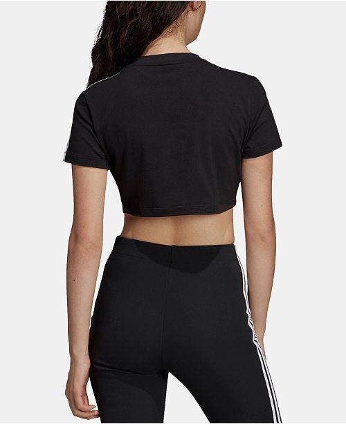 Noir Adicolor Adidas T Crop Femme Tops et shirt Commentaires XuPkOZiT