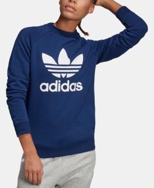 f531f353c718a1 Adidas Originals Women s Originals Trefoil Fleece Crew Sweatshirt ...