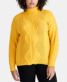 RACHEL Rachel Roy Plus Size Chunky Cable Sweater, Created for Macy's