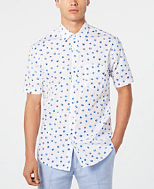 Club Room Men's Blueberry Graphic Shirt, Created for Macy's