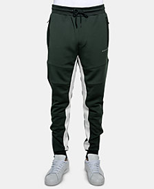 Sean John Men's Pieced Drawstring Jogger Pants