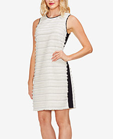 Vince Camuto Fringe-Stripe Dress