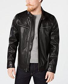 Calvin Klein Men's Faux Leather Jacket