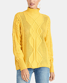 RACHEL Rachel Roy Chunky Cable-Knit Sweater, Created for Macy's