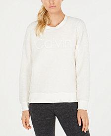 Calvin Klein Performance Sherpa Logo Sweatshirt