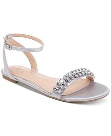 Jewel Badgley Mischka Dalinda Flat Evening Sandals