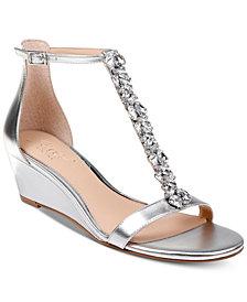 Jewel Badgley Mischka Darrell Wedge Sandals