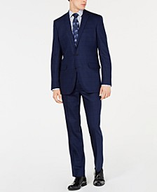 Men's Slim-Fit Windowpane Performance Suit