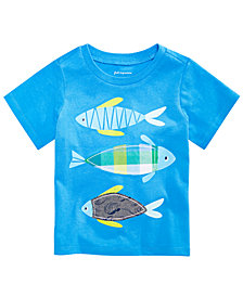 First Impressions Baby Boys Fishies Graphic T-Shirt, Created for Macy's