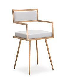 Marquee White Croc Arm Chair