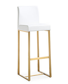 Denmark White Gold Steel Barstool