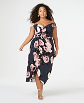 d5e064cc12 City Chic Trendy Plus Size Off-The-Shoulder Floral-Print Dress