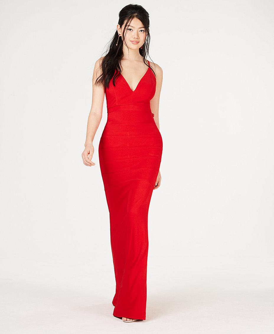 ce0b042aed Emerald Sundae Juniors' Lace-Racerback Gown & Reviews - Dresses ...
