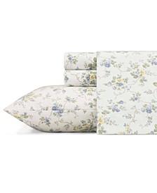 Le Fleur Lt-Pastel Blue Full Flannel Sheet Set