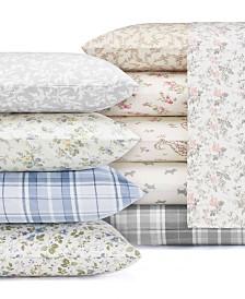 Laura Ashley Core Flannel Sheet Sets