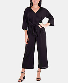 NY Collection Flare-Leg Jumpsuit