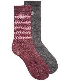 Columbia Women's 2-Pk. Wool Blend Full-Cushion Crew Socks