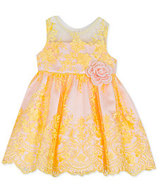 Rare Editions Baby Girls Embroidered Fit & Flare Dress