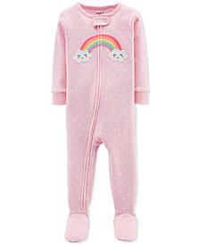Carter's Baby Girls Rainbow Cotton Footed Pajamas