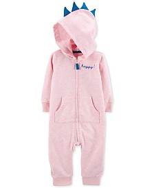 Carter's Baby Girls Dino Hooded Cotton Coverall