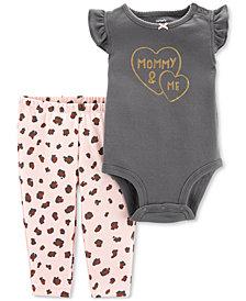 Carter's Baby Girls 2-Pc. Cotton Mommy & Me Bodysuit & Printed Leggings Set