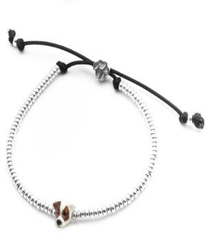 DOG FEVER Jack Russel Terrier Head Bracelet In Sterling Silver And Enamel in Gray