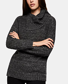 BCBGeneration Asymmetrical Cowl-Neck Sweater