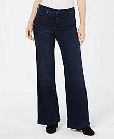 NYDJ Tummy-Control Wide-Leg Jeans