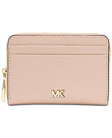 MICHAEL Michael Kors Pebble Leather Zip-Around Coin & Card Case