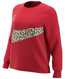 Nike Plus Size Sportswear Printed-Logo Sweatshirt