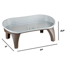 Elevated Pet Feeding Tray With Splash Guard and Non-Skid By Petmaker