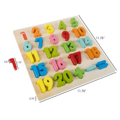 Wooden Number Puzzle Board By Hey Play