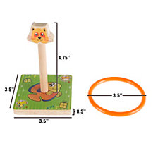 Kids Zoo Animal Ring Toss Game Set By Hey Play
