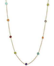 "EFFY® Multi-Gemstone 36"" Statement Necklace (6-1/2 ct. t.w.) in 14k Gold"
