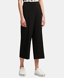 DKNY Wide-Leg Cropped Pants