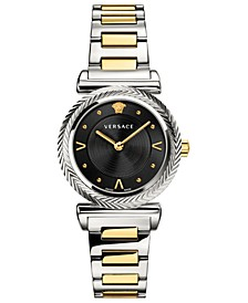 Women's Swiss V-Motif Vintage Logo Two-Tone Stainless Steel Bracelet Watch 35mm