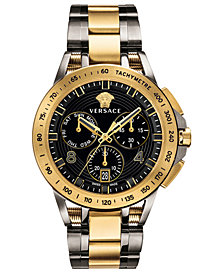 Versace Men's Swiss Sport Tech Two-Tone Stainless Steel Bracelet Watch 45mm