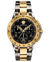 0bc1cd1884e4 Versace Men s Swiss Sport Tech Two-Tone Stainless Steel Bracelet Watch 45mm