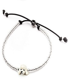 Poodle Head Bracelet in Sterling Silver and Enamel