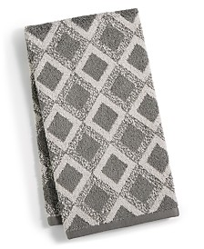 """Hotel Collection Tile Diamond 16"""" x 30"""" Hand Towel, Created for Macy's"""