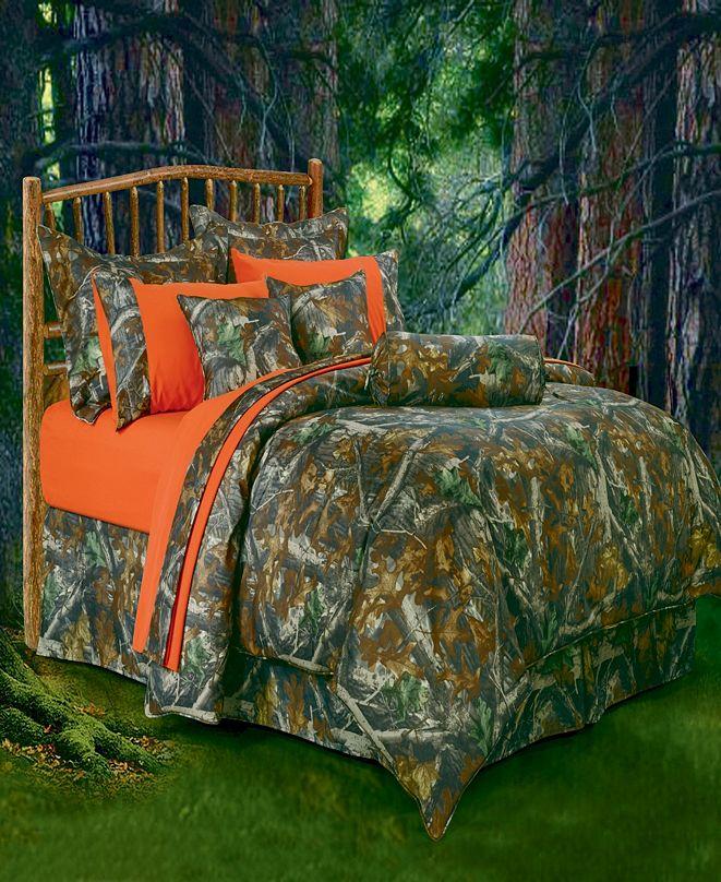 HiEnd Accents Oak Camo Comforter Set, King