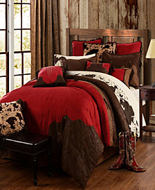 Red Rodeo Comforter Set, Full Red