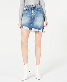 Lulu Frayed Denim Skirt