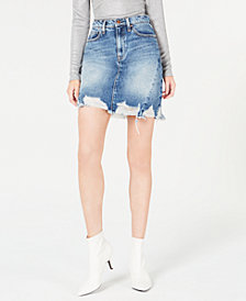 Hudson Jeans Lulu Frayed Denim Skirt