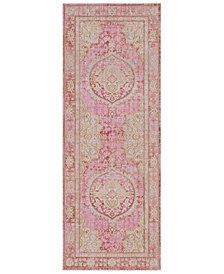 "Surya Antioch AIC-2325 Bright Pink 3' x 7'10"" Runner Area Rug"