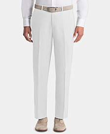 Men's UltraFlex Classic-Fit White Linen Pants