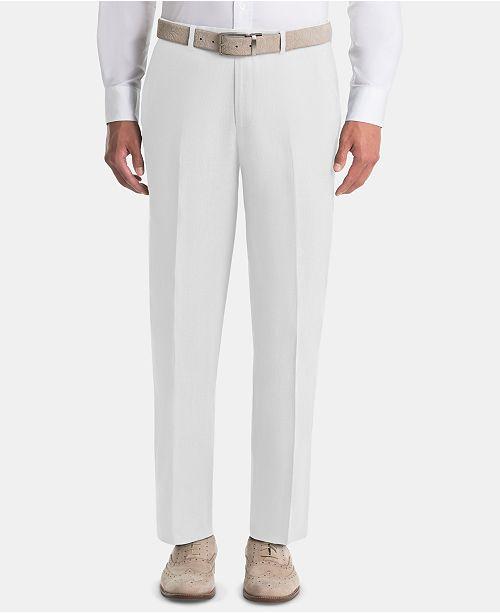 Lauren Ralph Lauren Men's UltraFlex Classic-Fit White Linen Pants