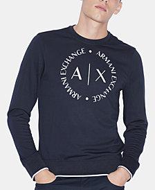 A|X Armani Exchange Men's Circular Logo Sweater