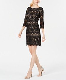 Jessica Howard Allover Lace Sheath Dress