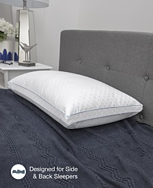 SensorGEL® Dual Comfort Pillows, Gel-Infused Memory Foam & Fiber Fill iCOOL Technology System®, 400 Thread Count 100% Cotton Cover